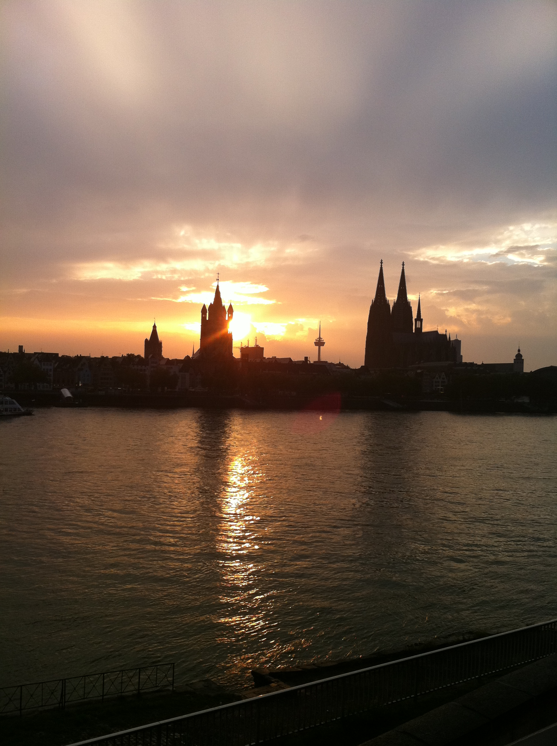 Sunset in Cologne