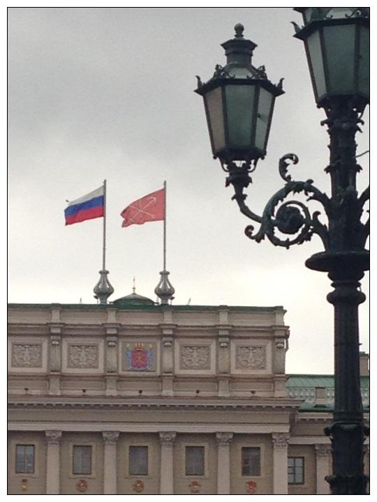 Flags flying St Petersburg