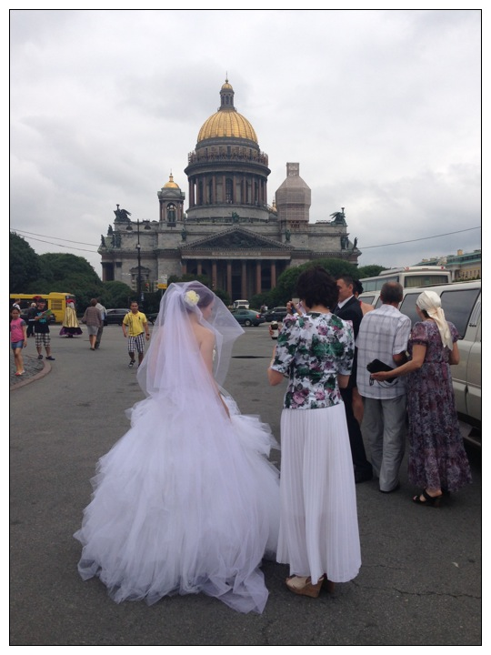 Bride in St Petersburg