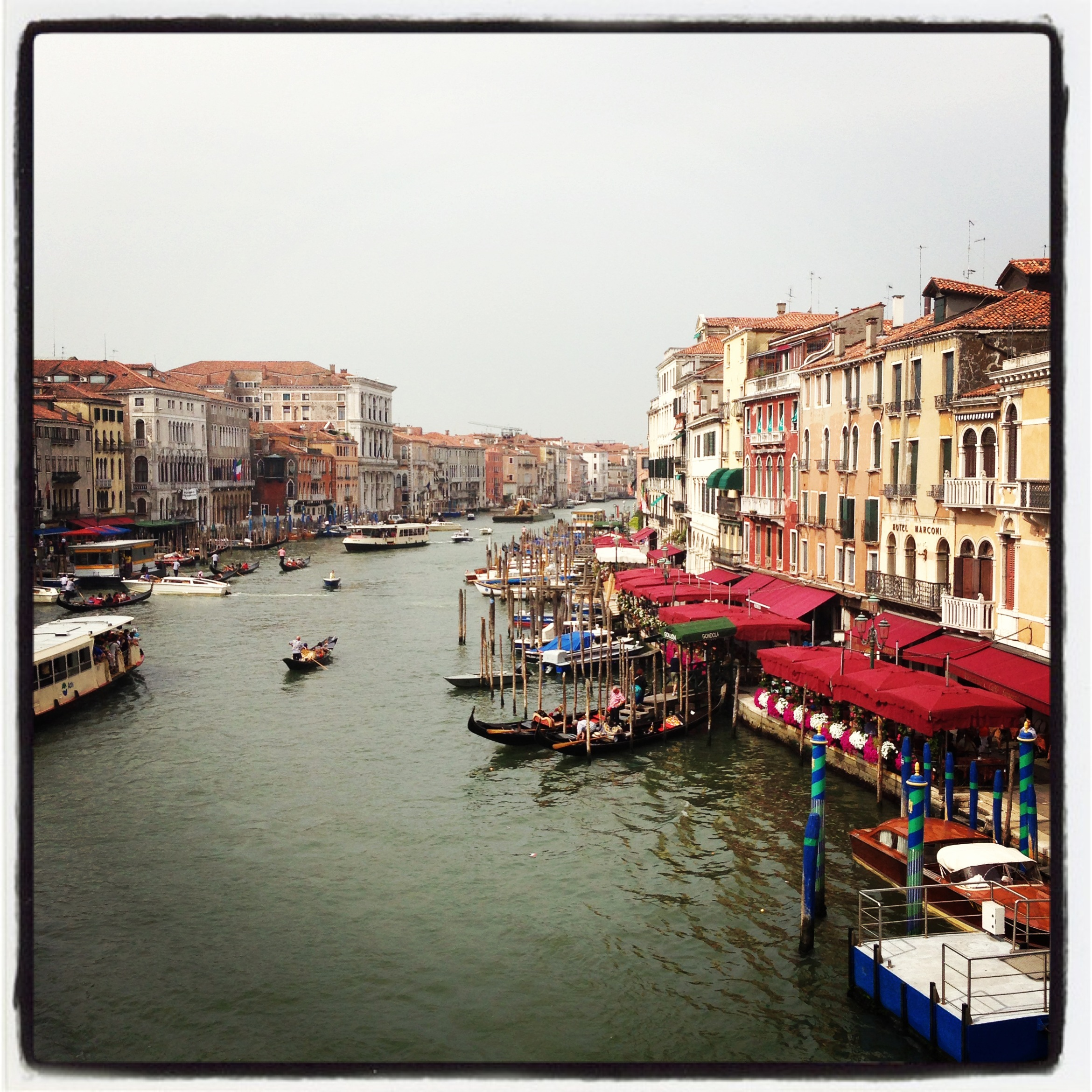 View from the Rialto Bridge Venice