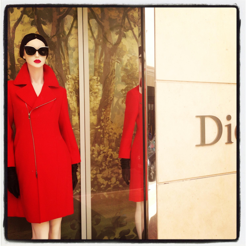 Dior red coat