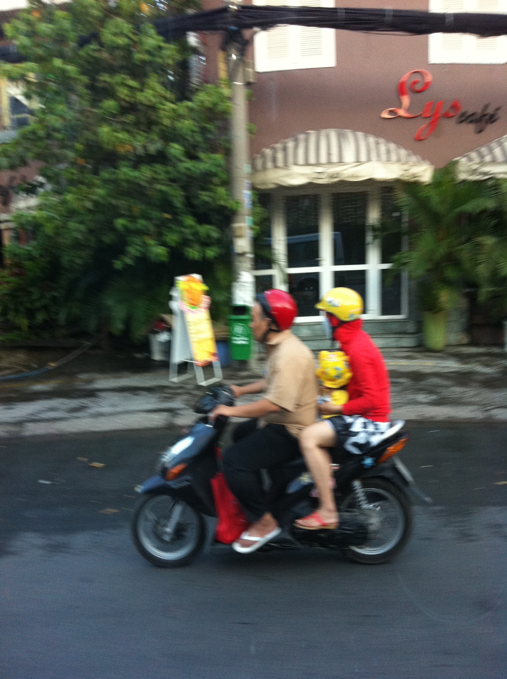 Family on motorbike Ho Chi Minh City