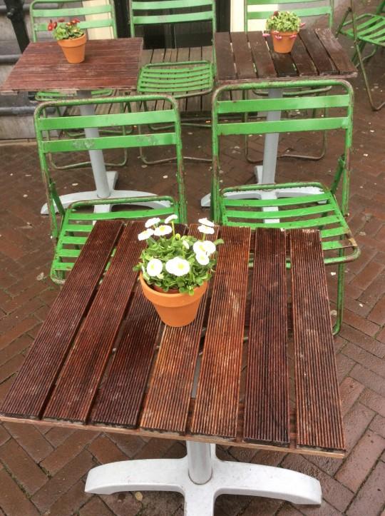 Flowers on table Amsterdam